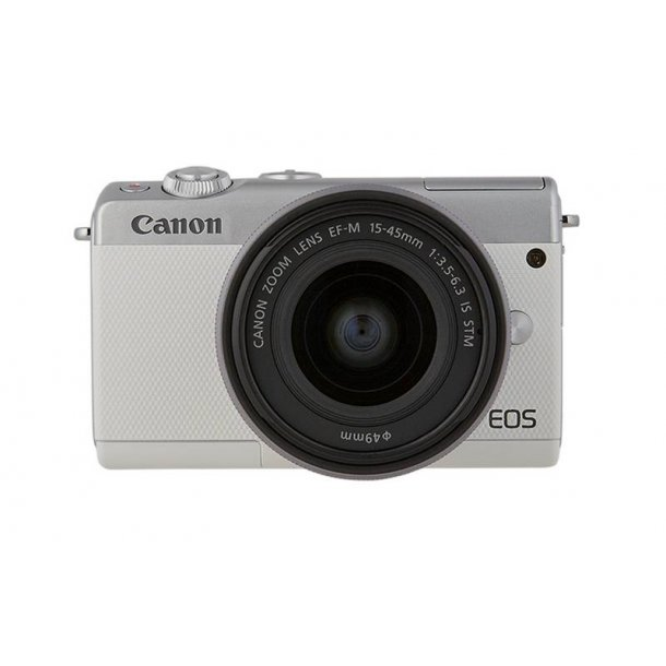Canon EOS M100 EF-M 15-45mm IS STM hvid