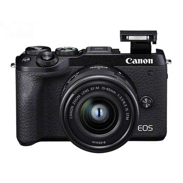 Canon Eos M6 II Inkl. 15-45mm IS STM + EVF-DC2 Søger